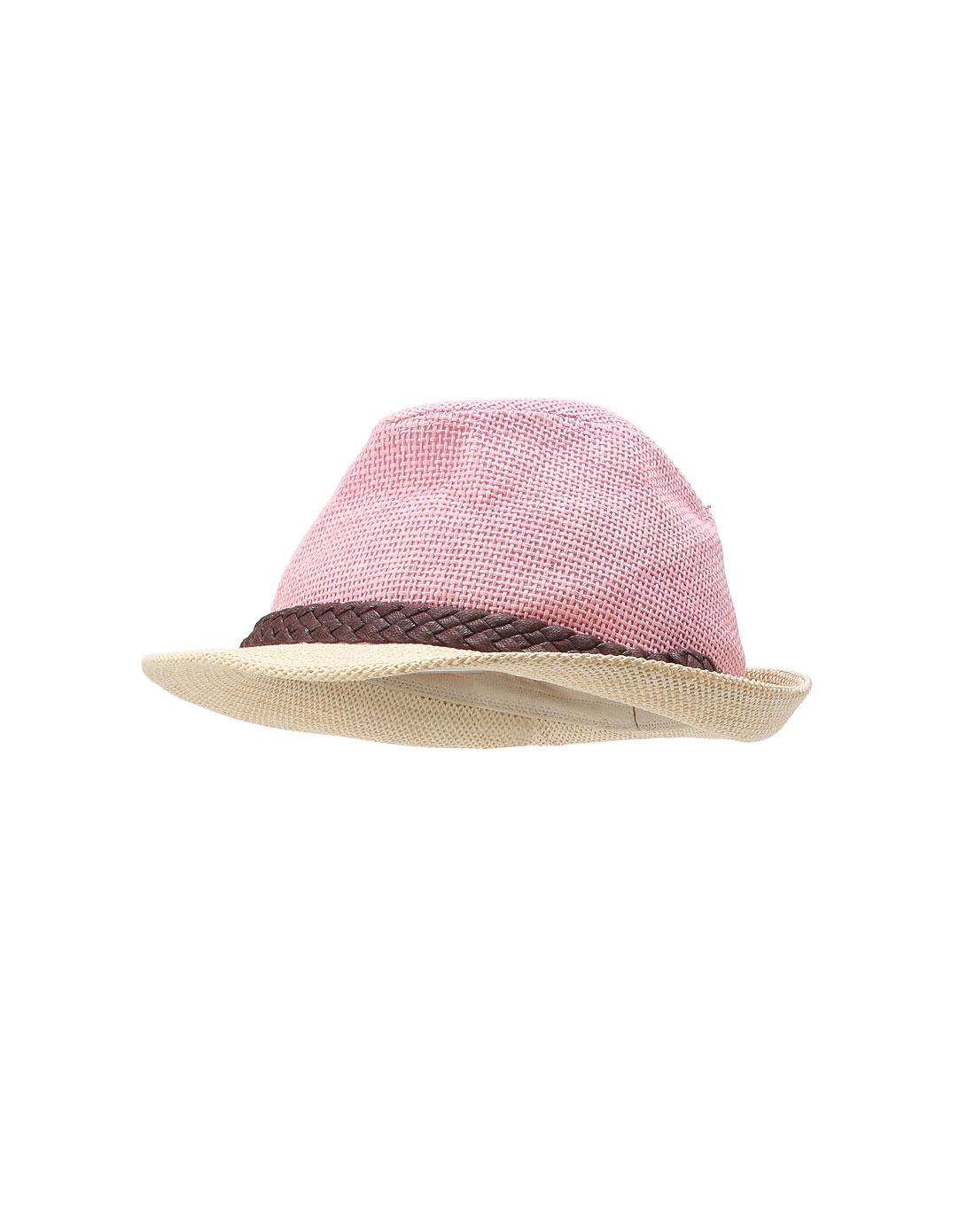 蜜桃红色可爱帽子