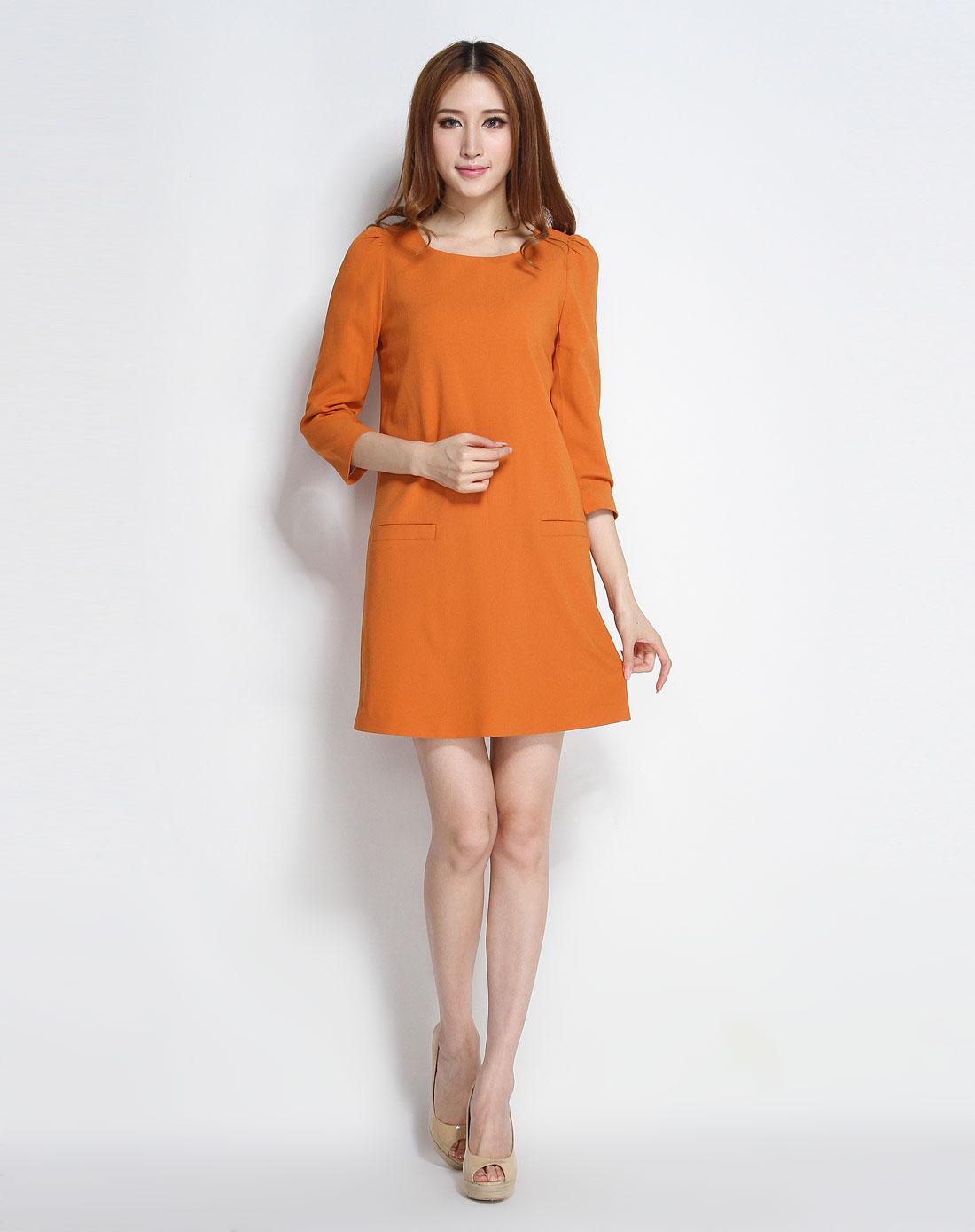 连衣裙春款2014中袖