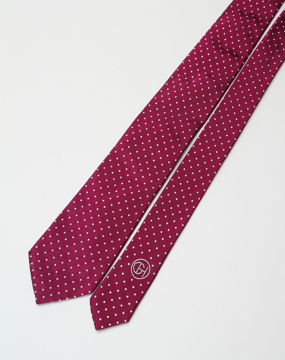 深红色点点时尚领带