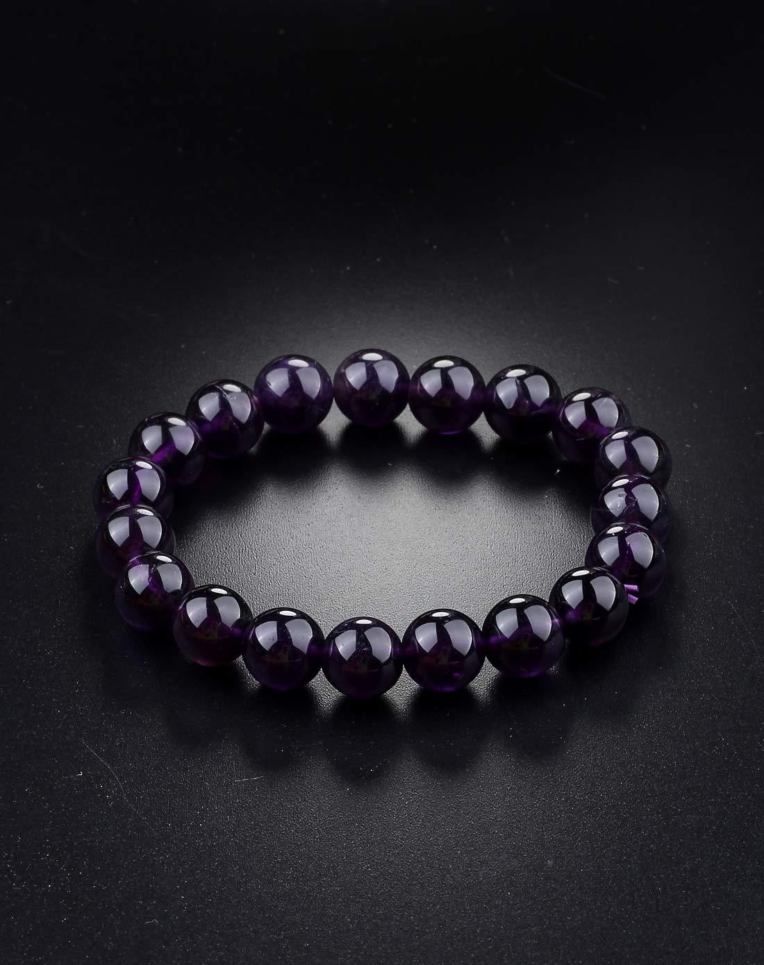 天然大紫水晶手链