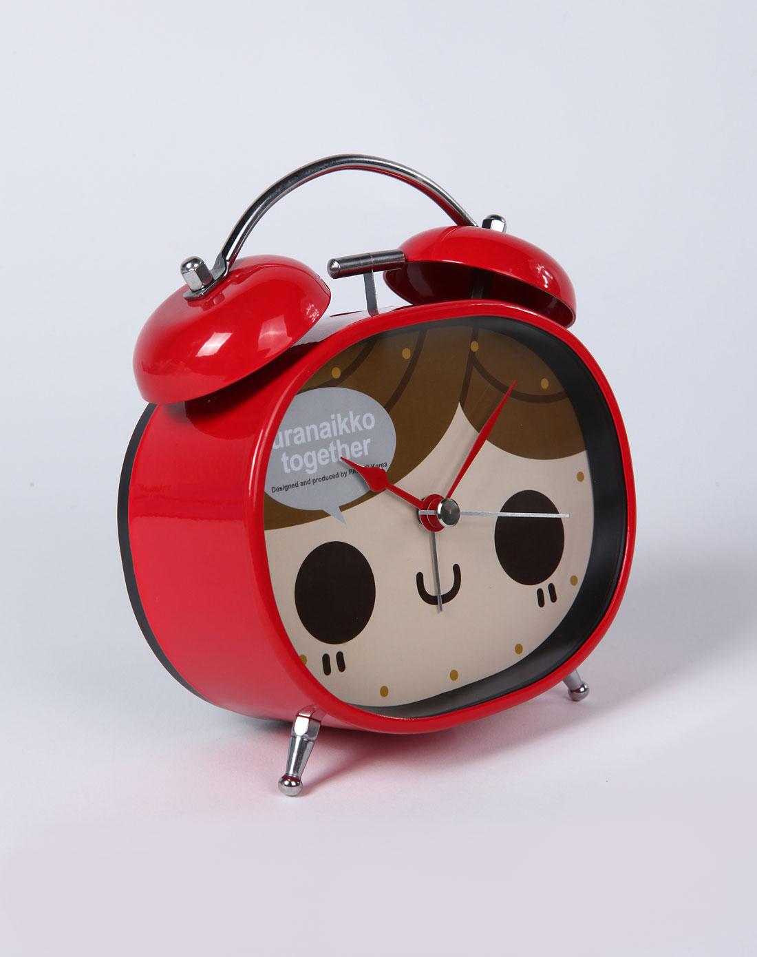 红色女孩叮叮当可爱闹钟