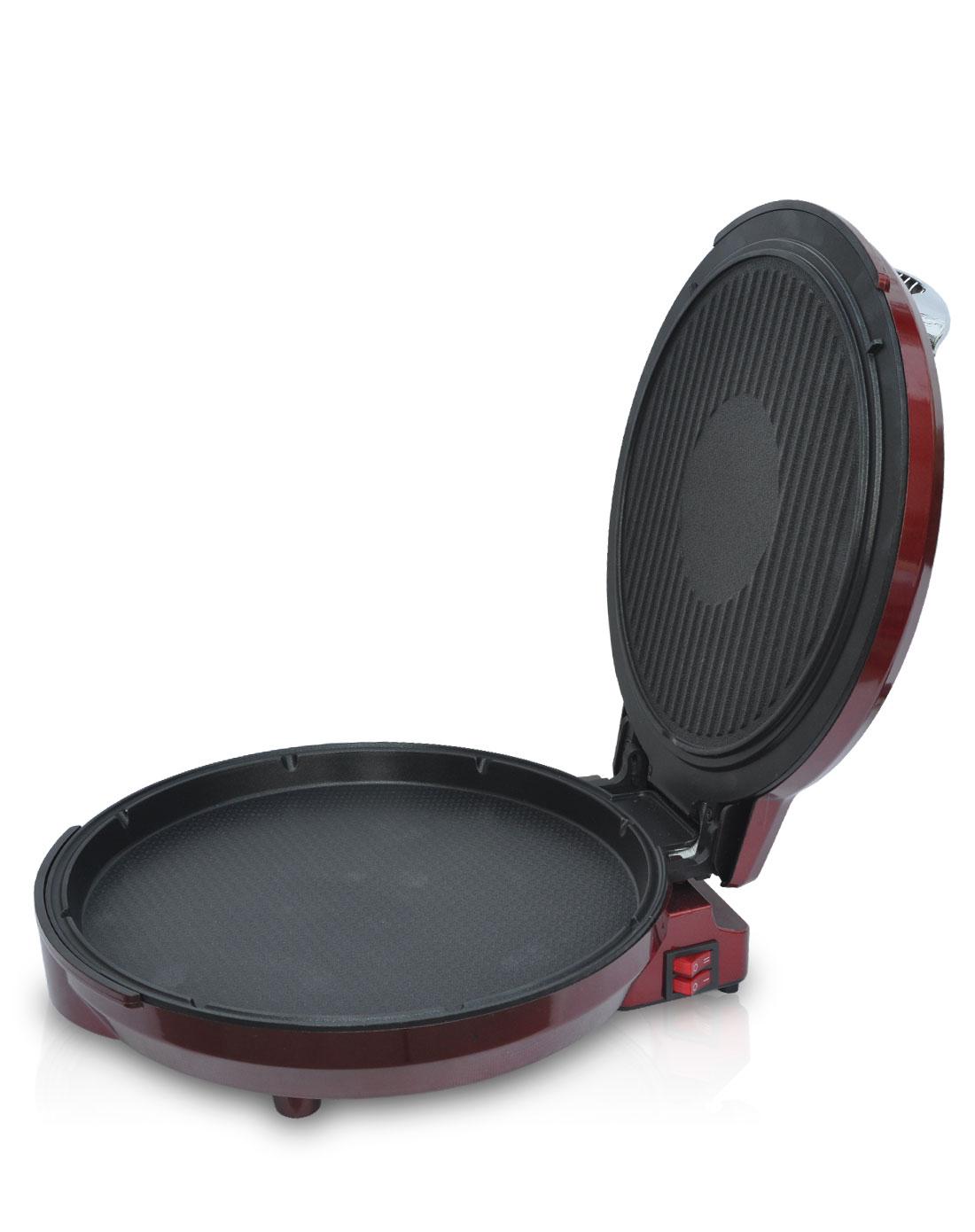 美菱meiling电器悬浮式多功能电饼铛红色mlbd-32b11x2