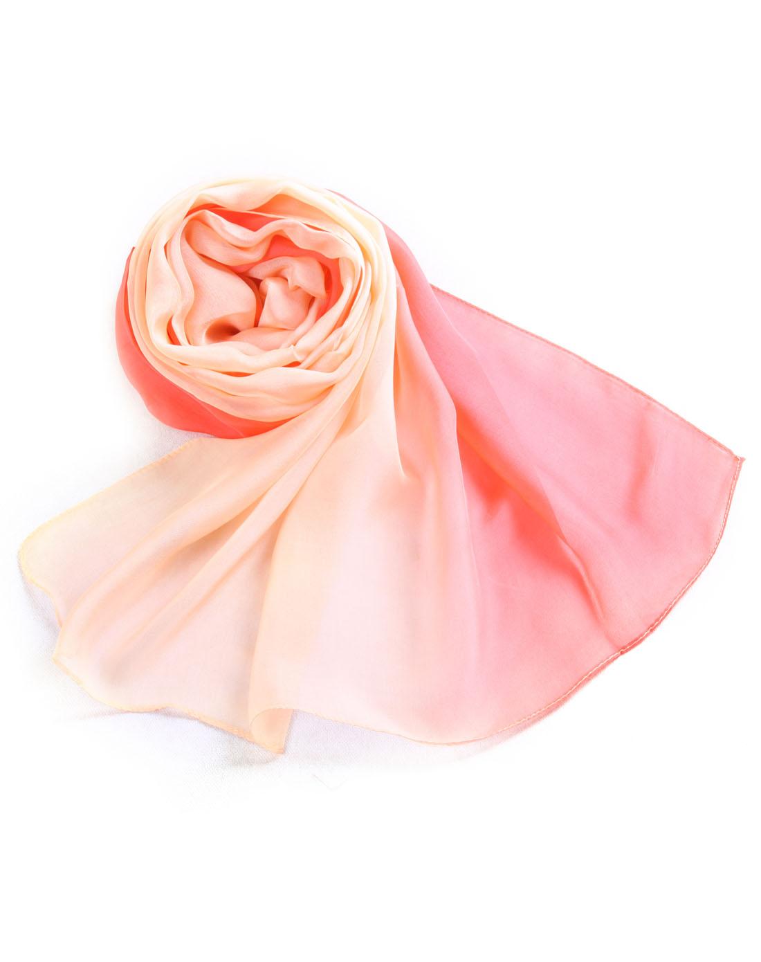 雪纺手绘长巾 真丝 围巾 丝巾