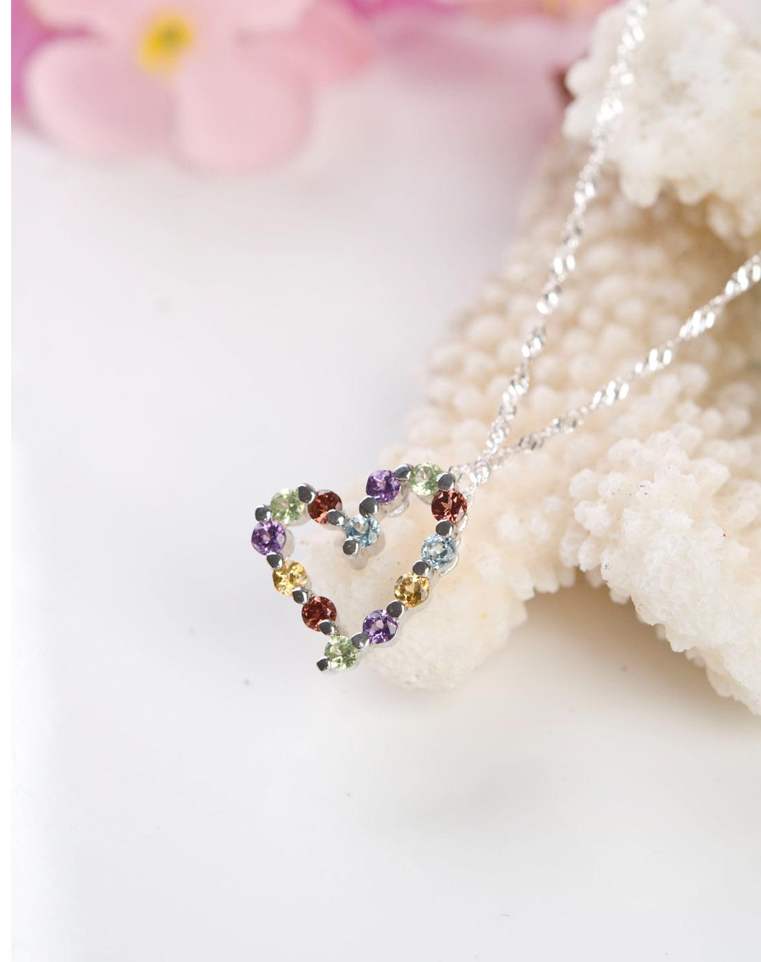 彩色宝石吊坠
