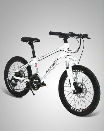 开拓100白色时尚山地自行车