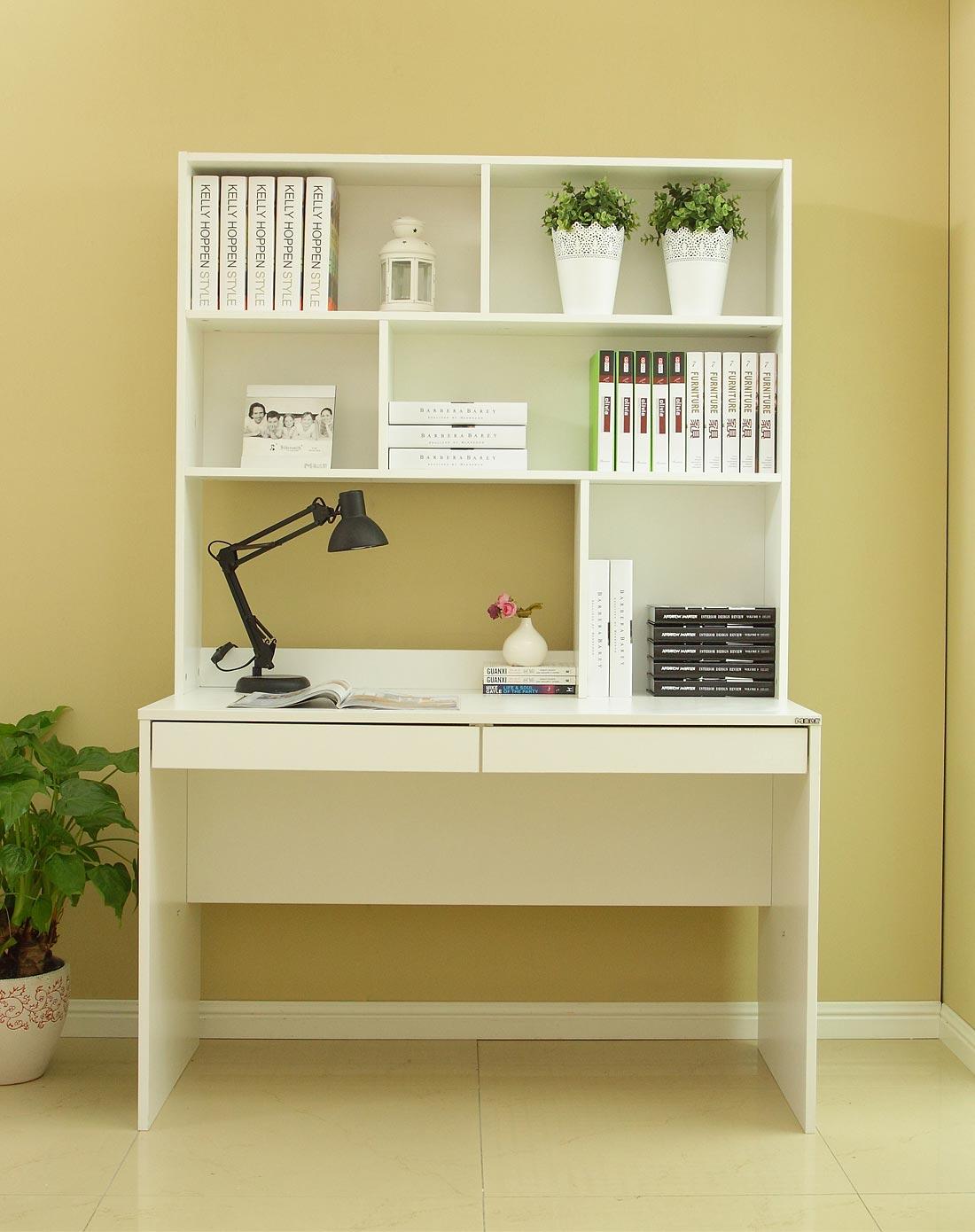 批发零售简洁书柜电脑桌 书橱书架书桌台式电脑桌学生