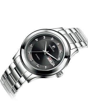 进口机械机芯男表不锈钢透视后盖男士手表