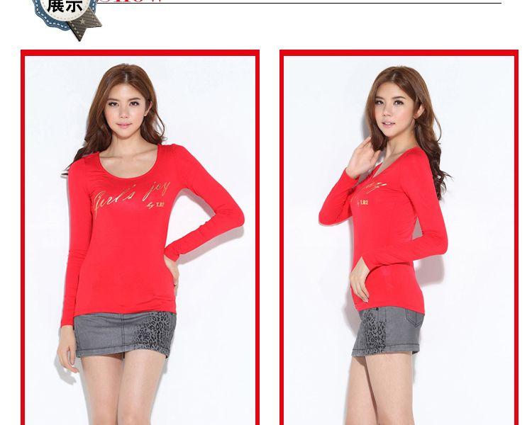 b2红色长袖t恤jb3to0070201