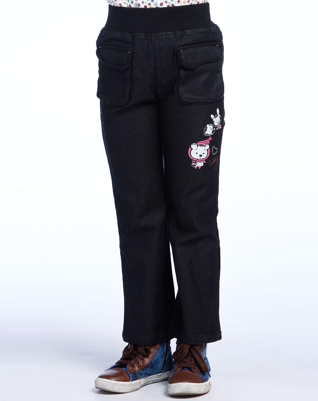 米斯维尼女童黑色裤子fgqs05035-84