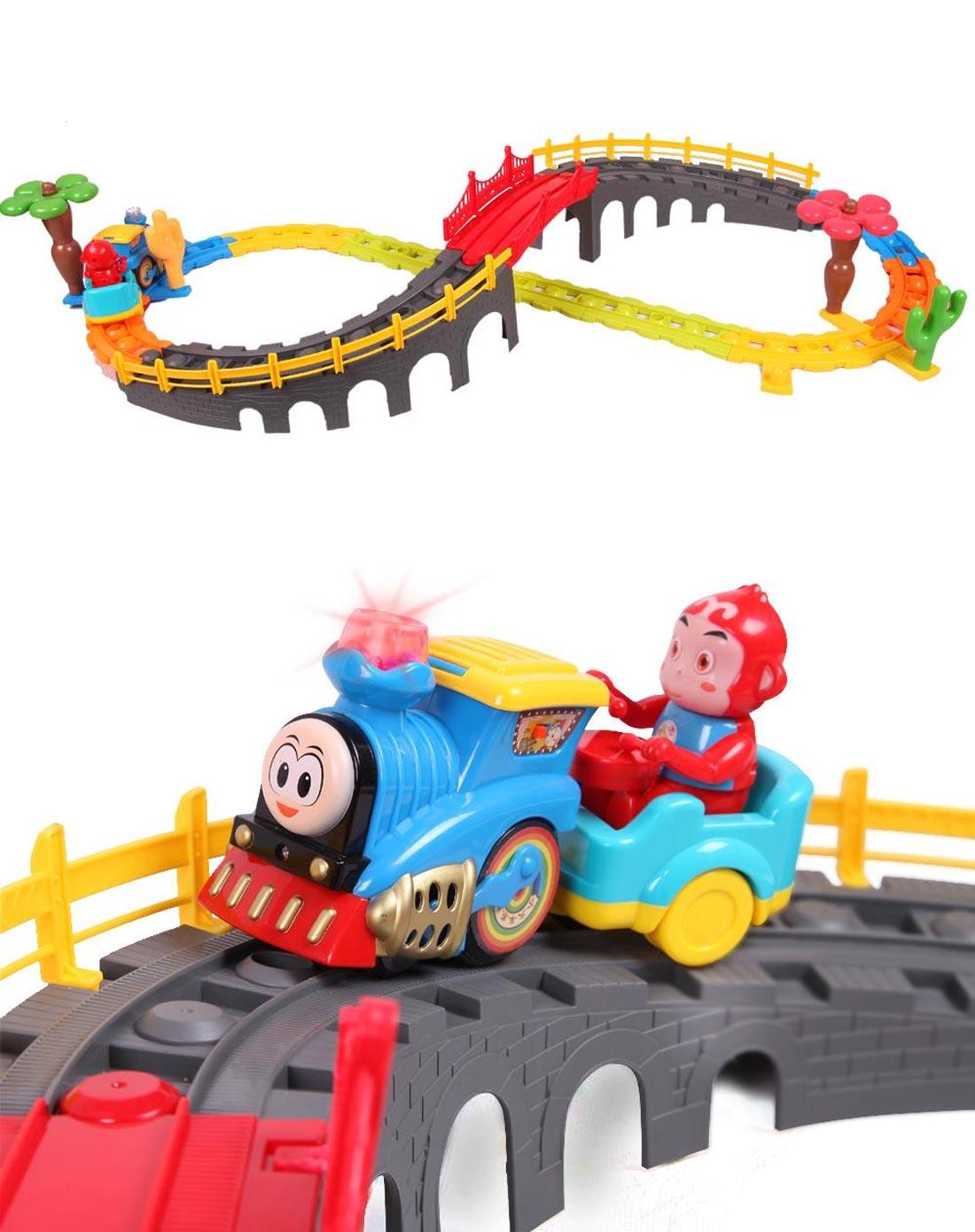 遥控玩具托马斯轨道火车套装汽车轨道车玩具2788