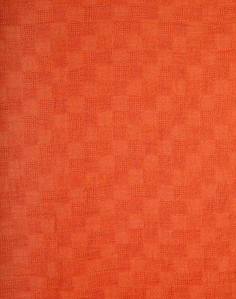 橙色经典欧式大牌素色格子围巾