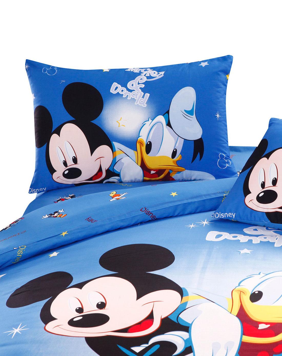 迪士尼蓝色明星组合欧式四件套