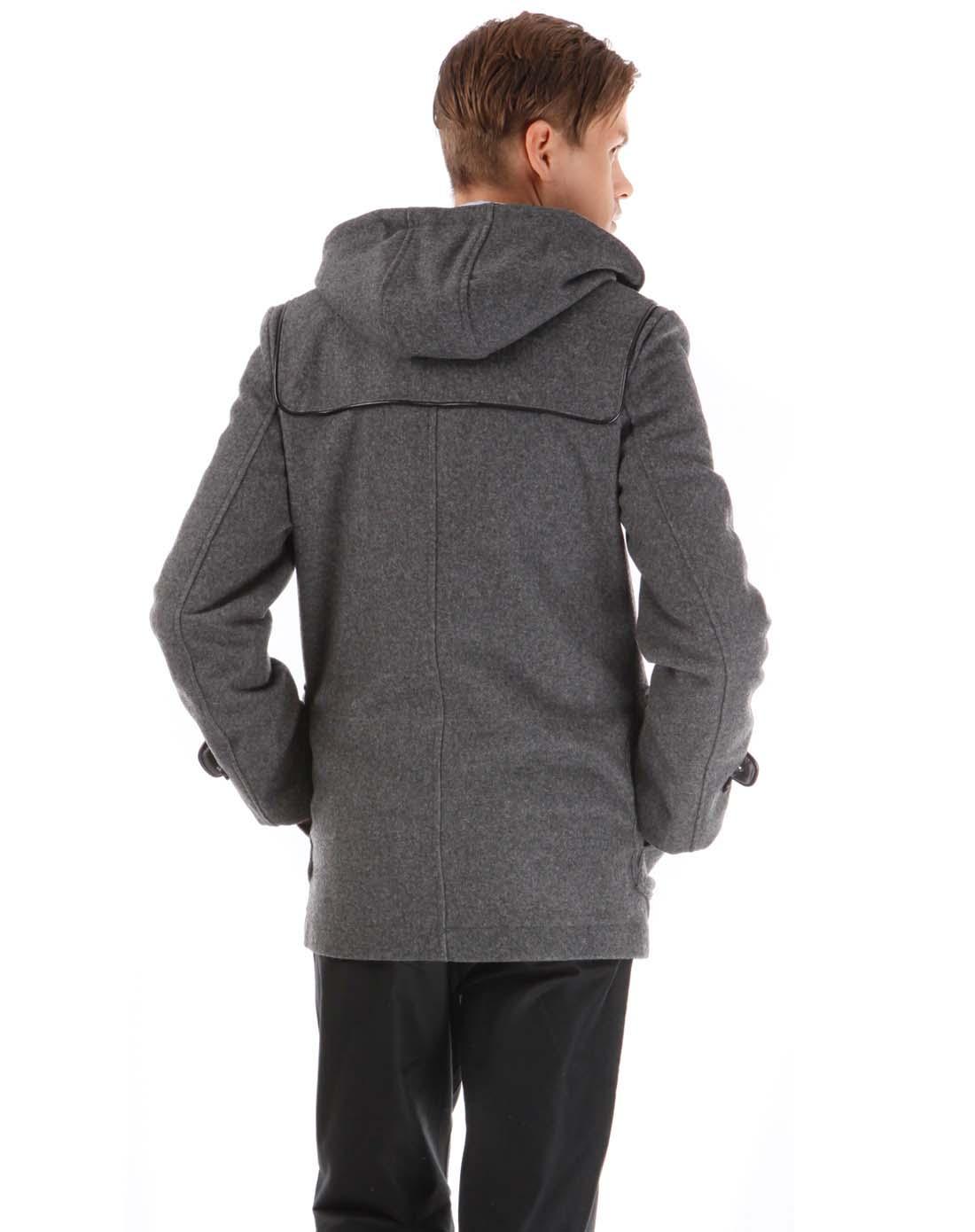 arrow男士灰色呢子大衣aw-31113105gy