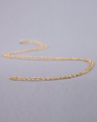 女款黄天然黄水晶编织项链