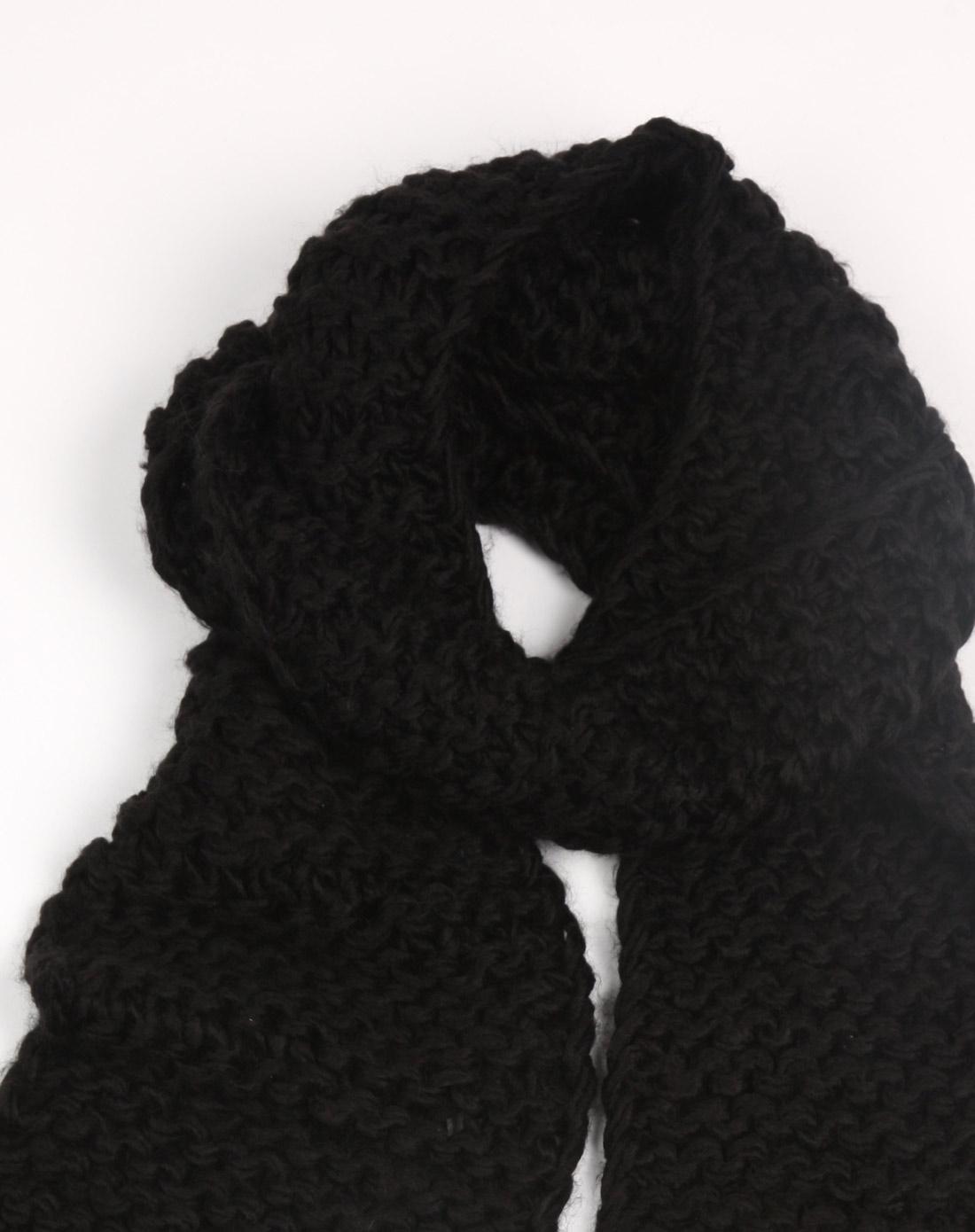 vie配饰专场冬季编织围巾黑色l10fc351