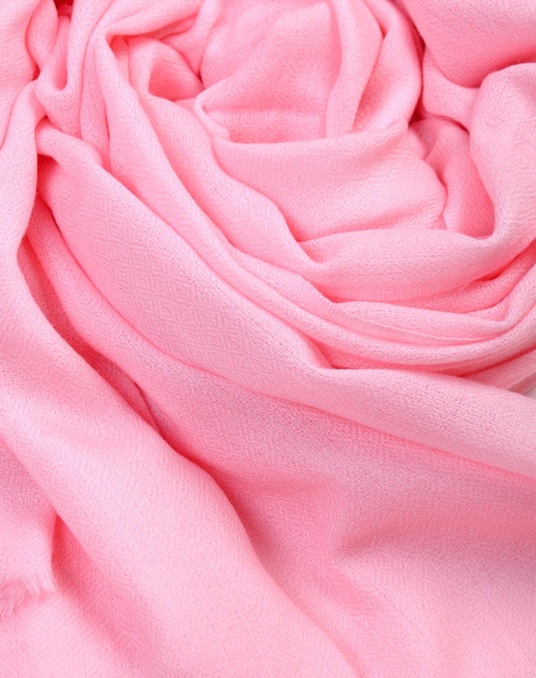 饰典sidi冬季围巾专场女款纯色钻石纹羊毛大披肩粉色