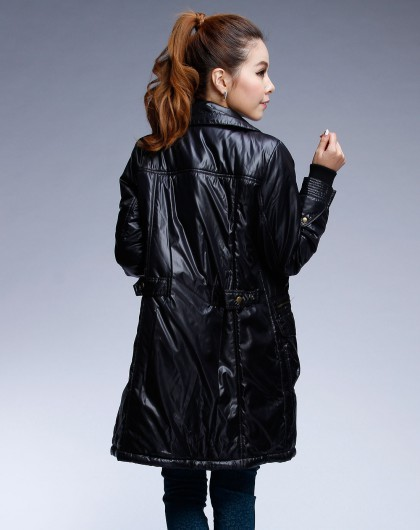 wwcvcom_女装库存专场veeko 女款黑色拉链时尚长袖外套vmwwc