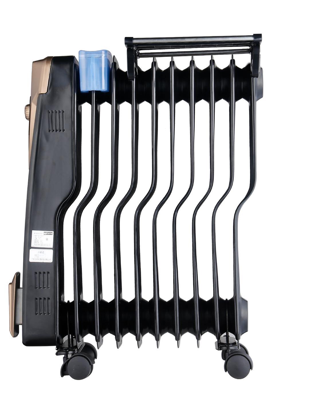 10片黑色电热油汀取暖器.专利s型