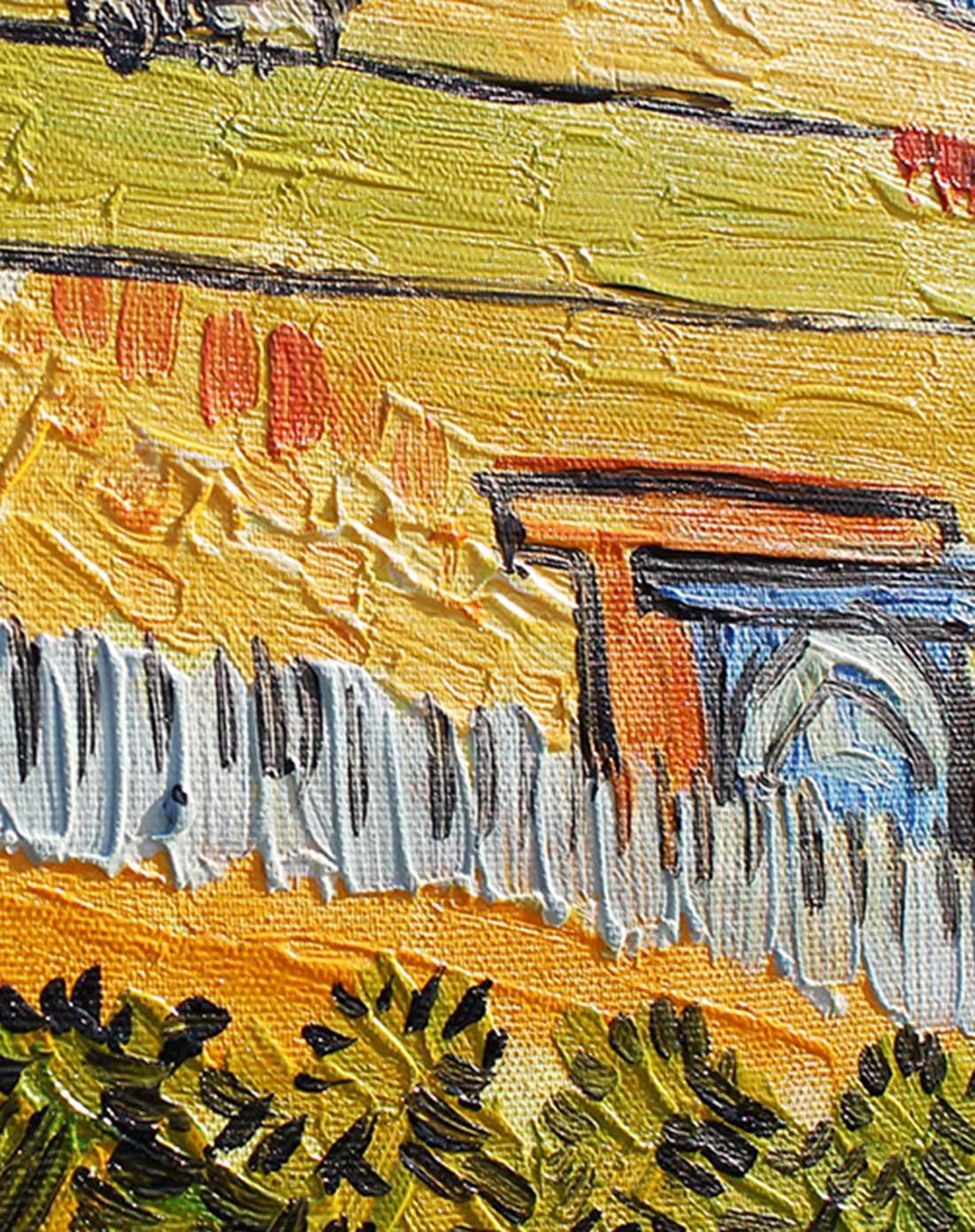 纯手绘油画-梵高麦田