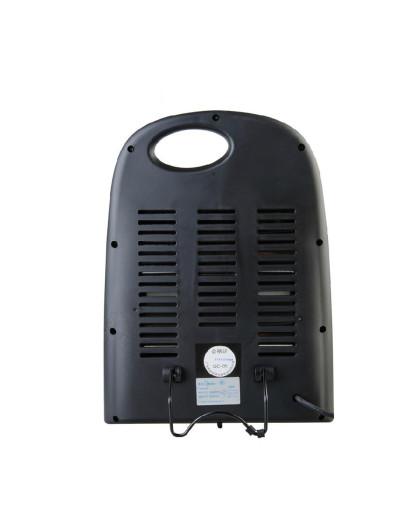 美的midea家电远红外电加热两档可选黑色电暖器ns9