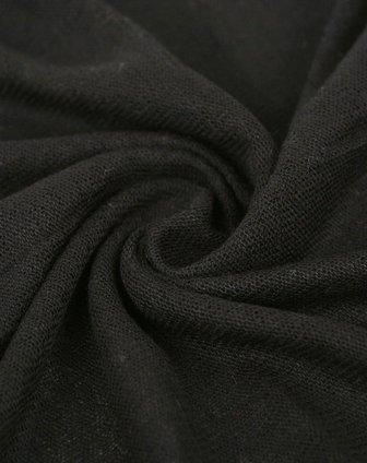 女款黑色七彩毛线围脖