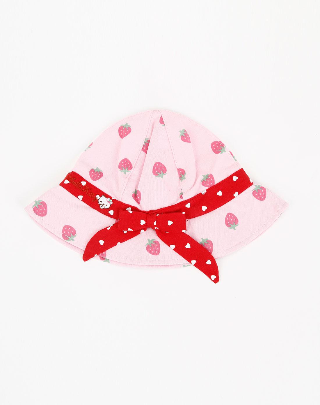 惠粉红_最后约惠-3c文体混合专场-hello kitty女童粉红色草莓帽子