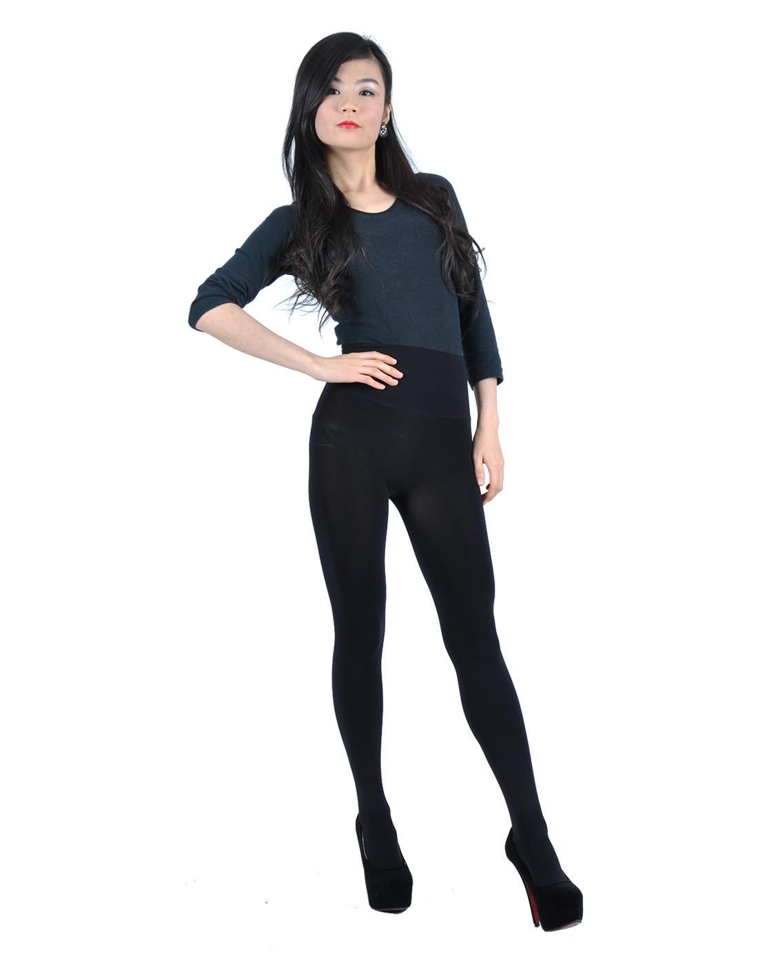 无缝连裤袜黑色