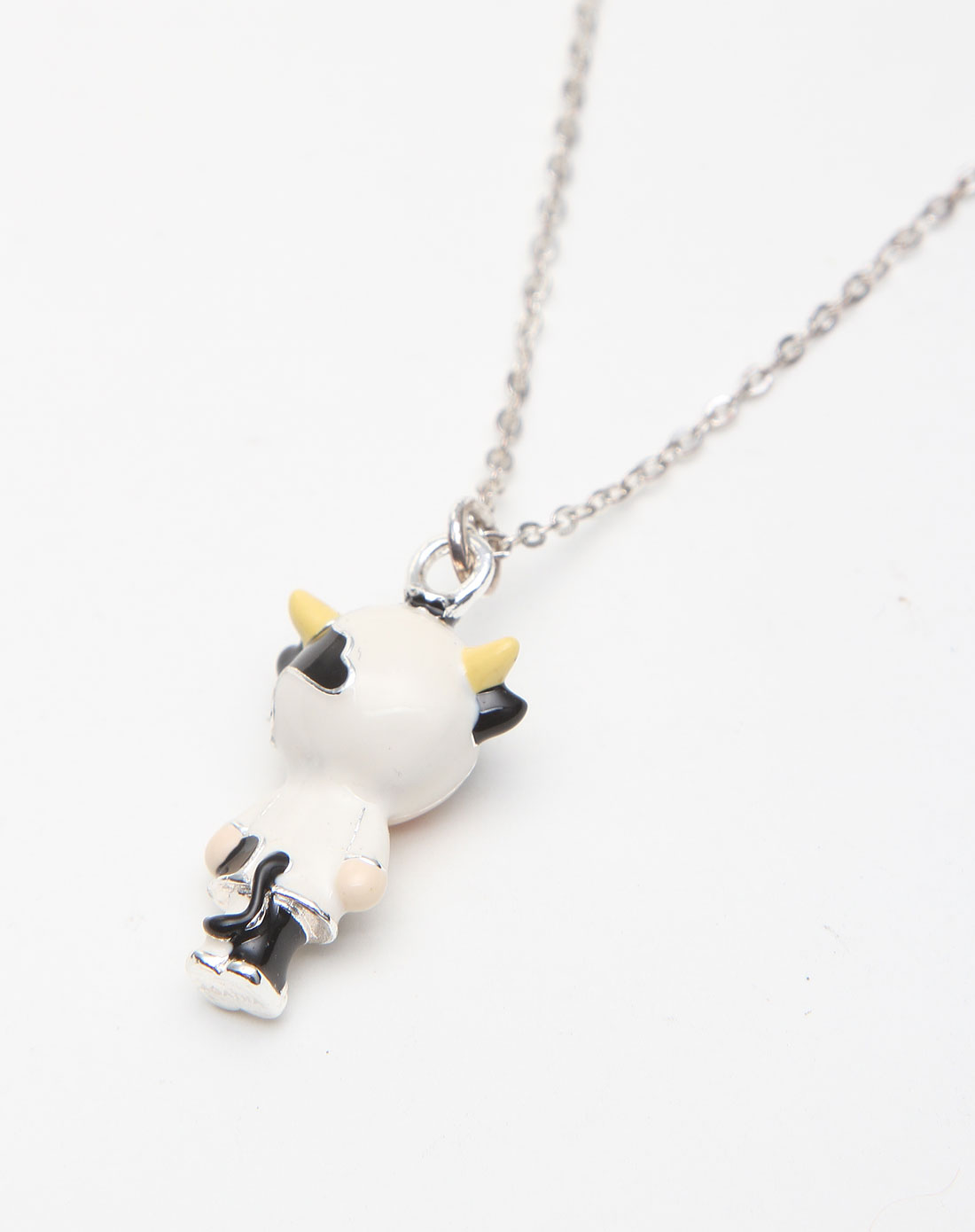 黑白色可爱奶牛造型生肖造型项链