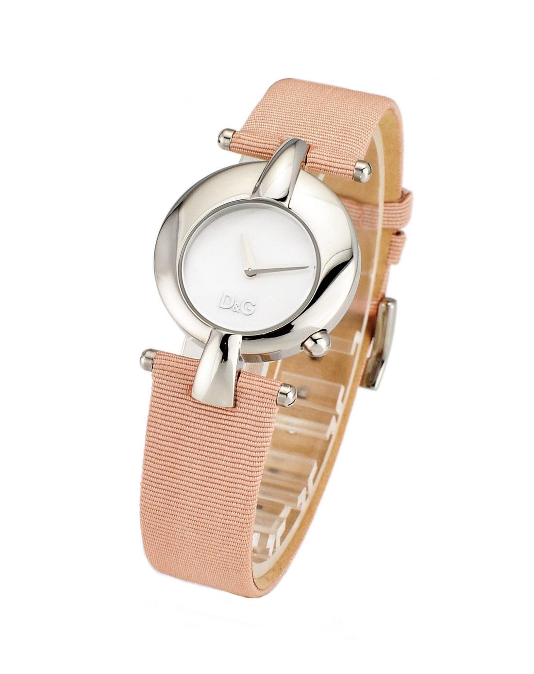 d&g粉色白盘时尚可爱女表dw0457