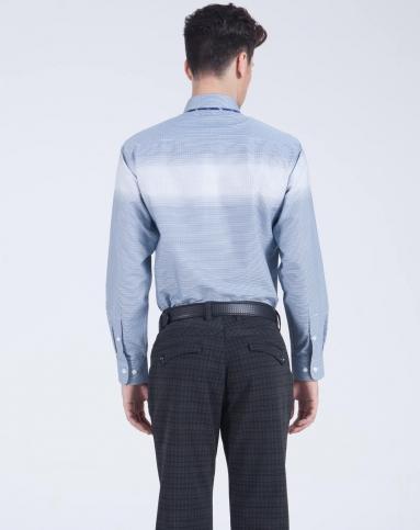 男士普蓝色正装长袖衬衫