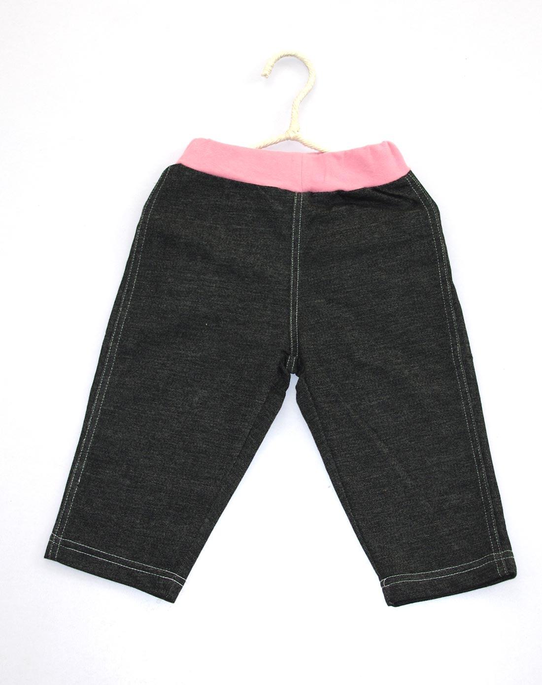 布丁达人男女童女童黑色裤子ck613a