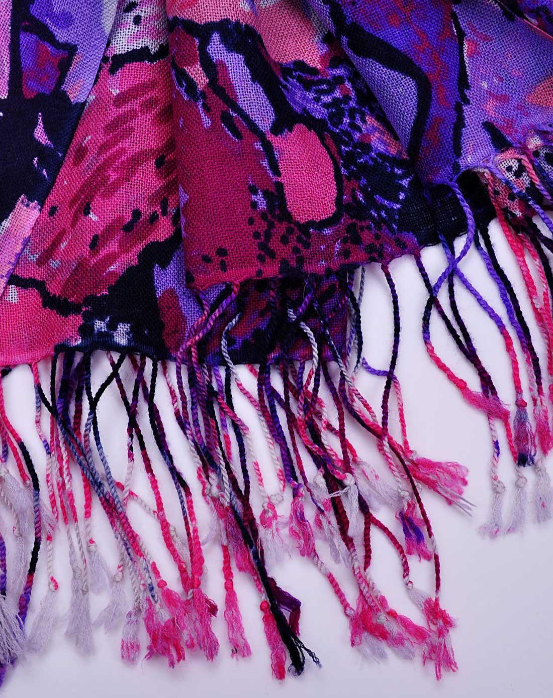 时尚抽象画羊毛围巾