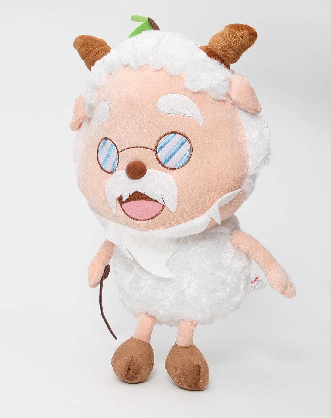 喜羊羊与灰太狼 14寸白色经典款慢羊羊