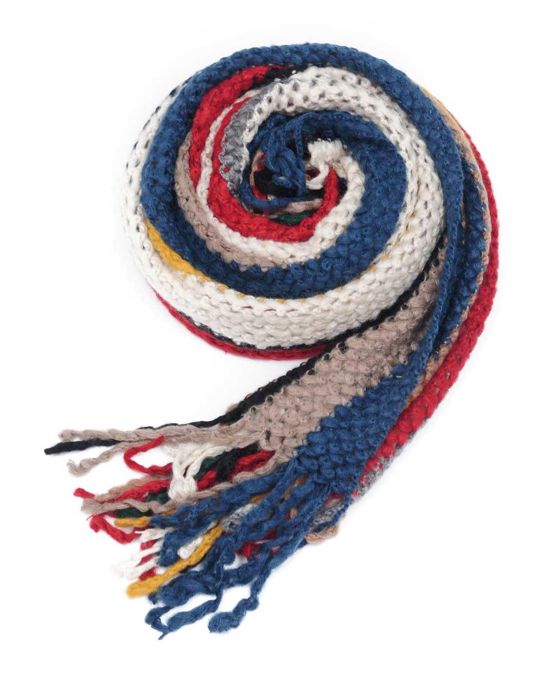 女款彩色毛线编织时尚围巾