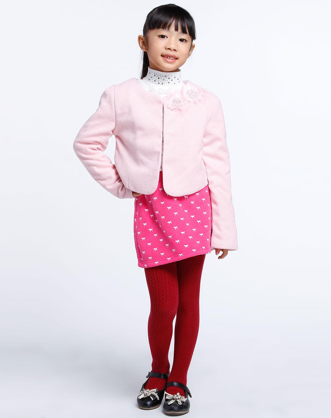 女童粉红色可爱公主小礼服