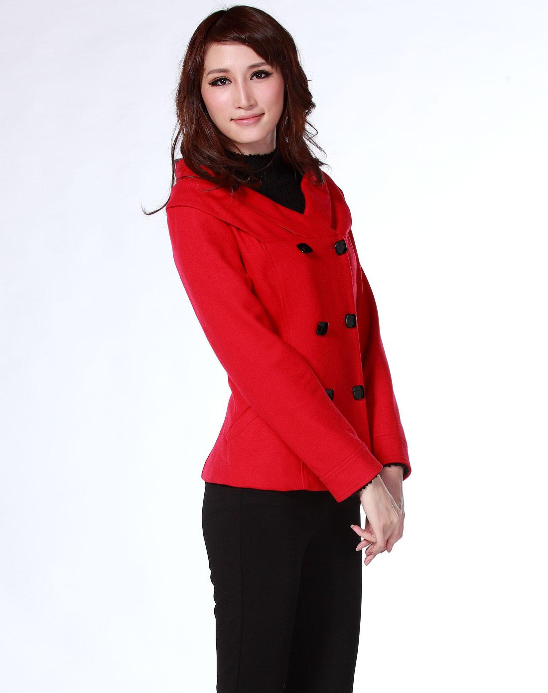 女款红色上衣外套