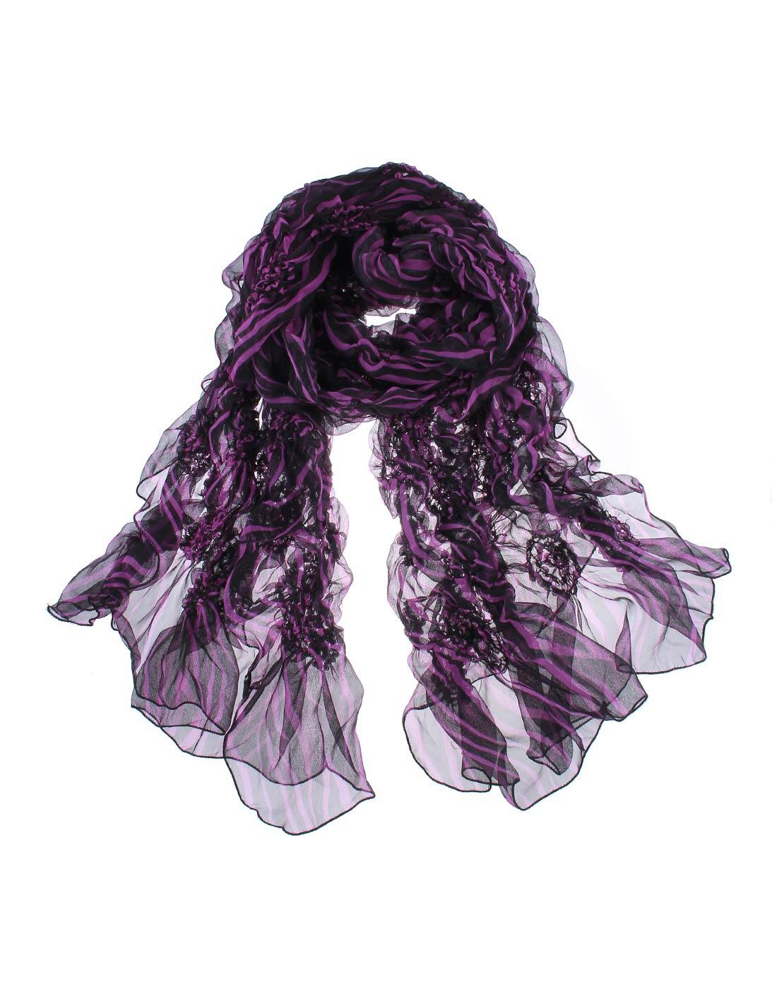 紫色唯美真丝丝巾
