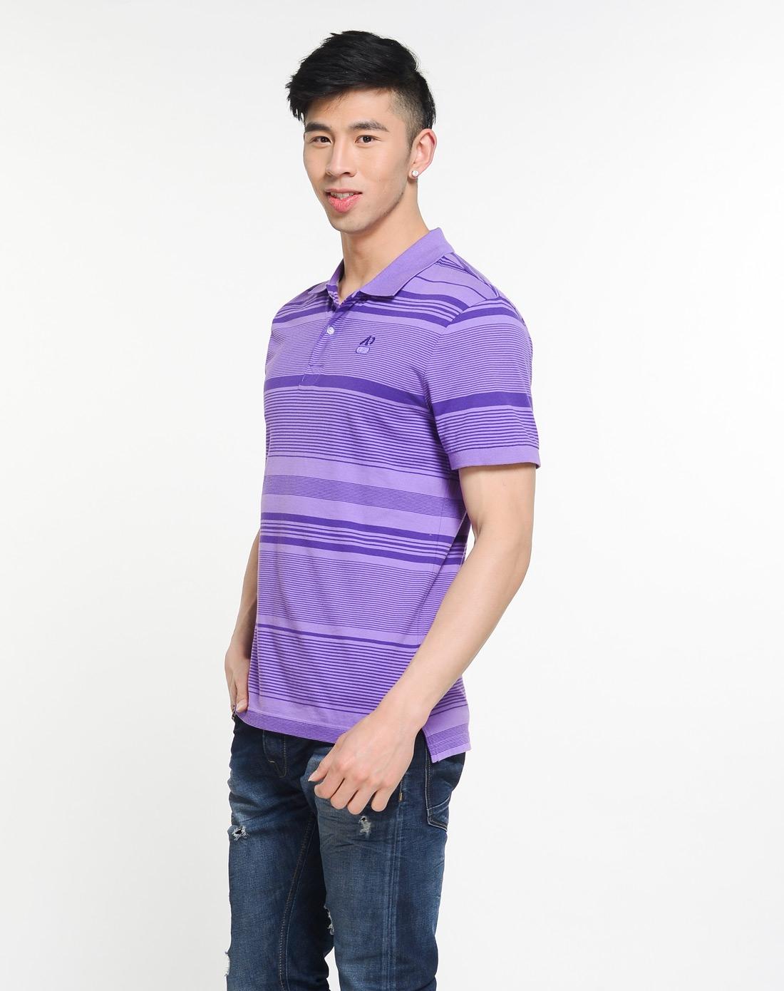 耐克nike男装专场-男子紫色短袖polo衫图片