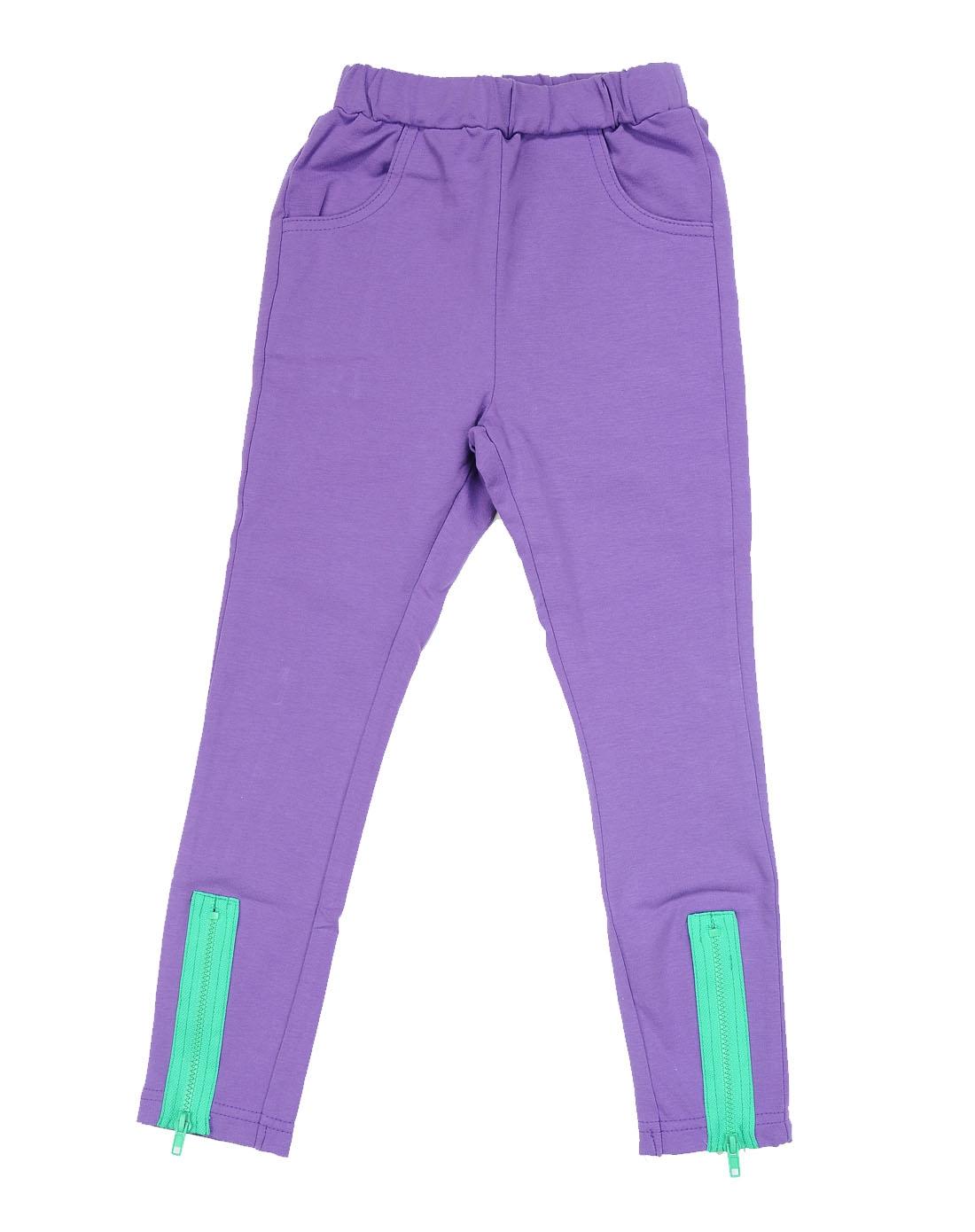埃米希amici男女童女童紫色裤子l33007-023
