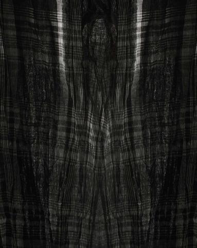 黑色格子短袖连衣裙
