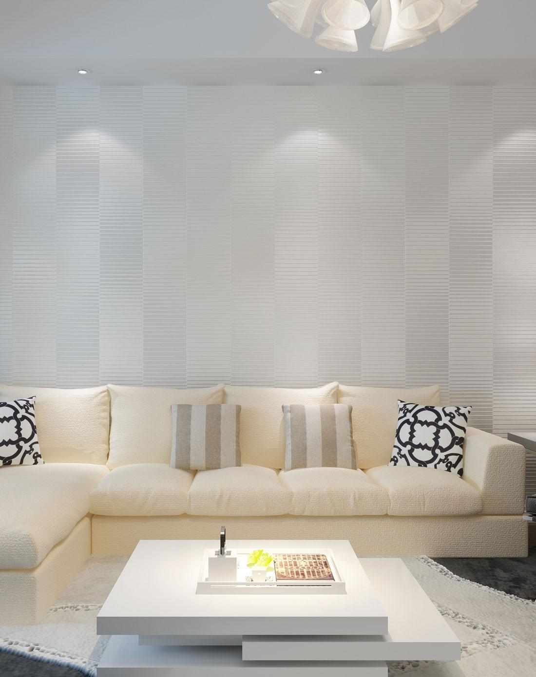 现代简约无纺布房间墙纸 卧室客厅电视背景装修壁纸