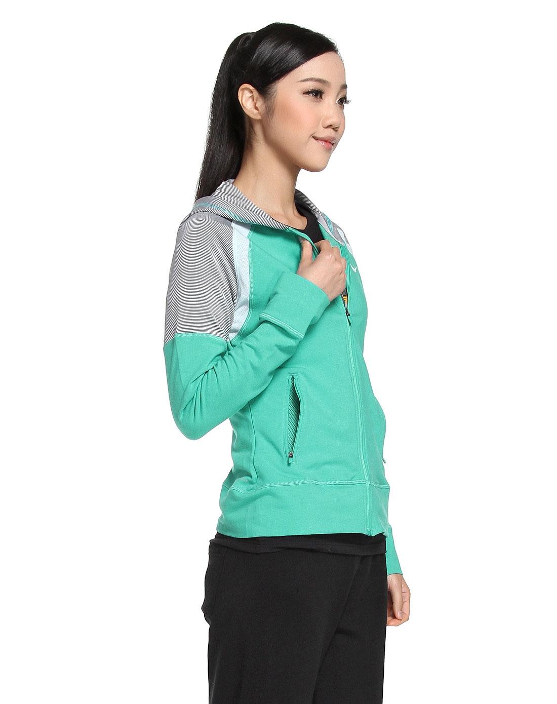 耐克nike 绿色长袖网球外套