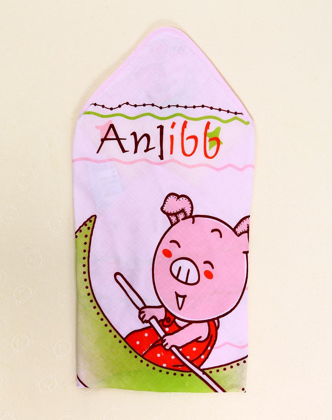 安吉小羊婴儿服饰用品专场婴儿红色纱布小猪抱被w