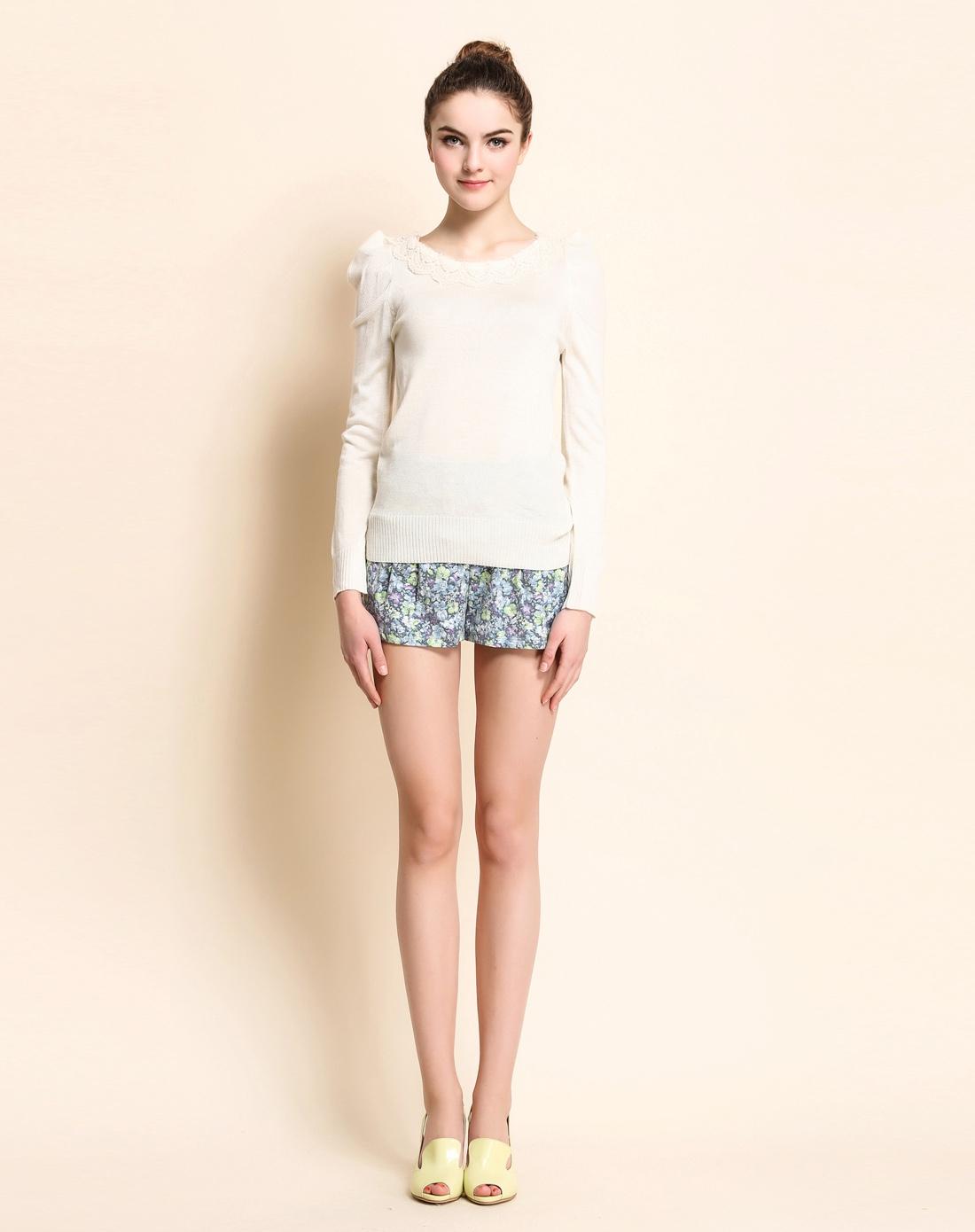 针织衫h0191031奶