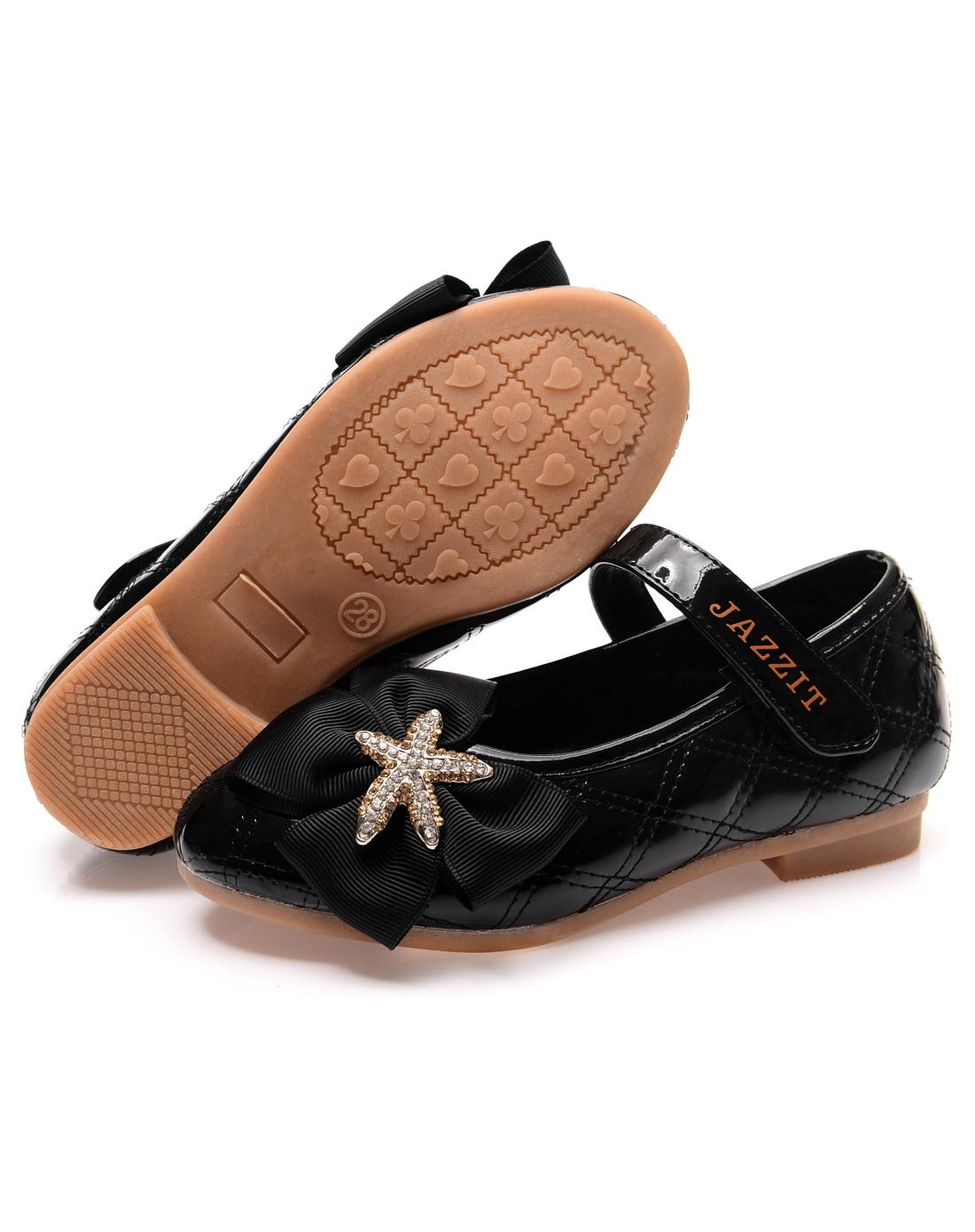 专场女童小童黑色凉鞋