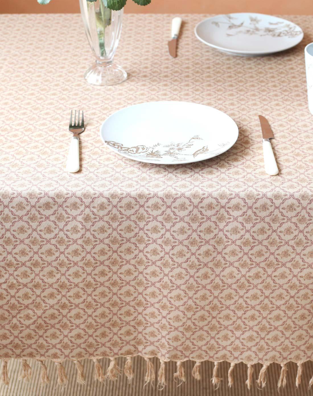 小清新欧式碎花棉质田园餐桌桌布a款