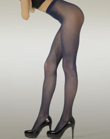 女式宝蓝二代无缝提花连裤袜