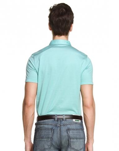 绿色独特皱褶短袖t恤