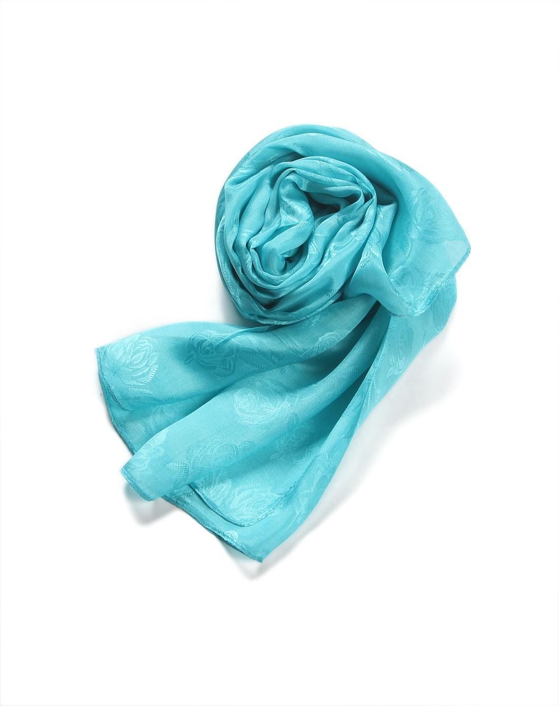 绿色牡丹情怀100%桑蚕丝丝巾