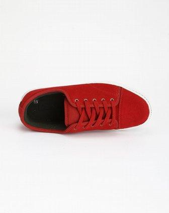 万斯vans男士专场-赤红色系带休闲板鞋